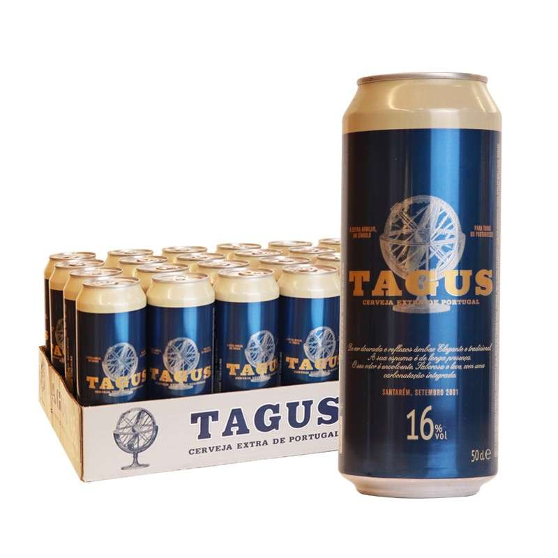泰谷(TAGUS)16度烈性白啤酒 500ml*24听