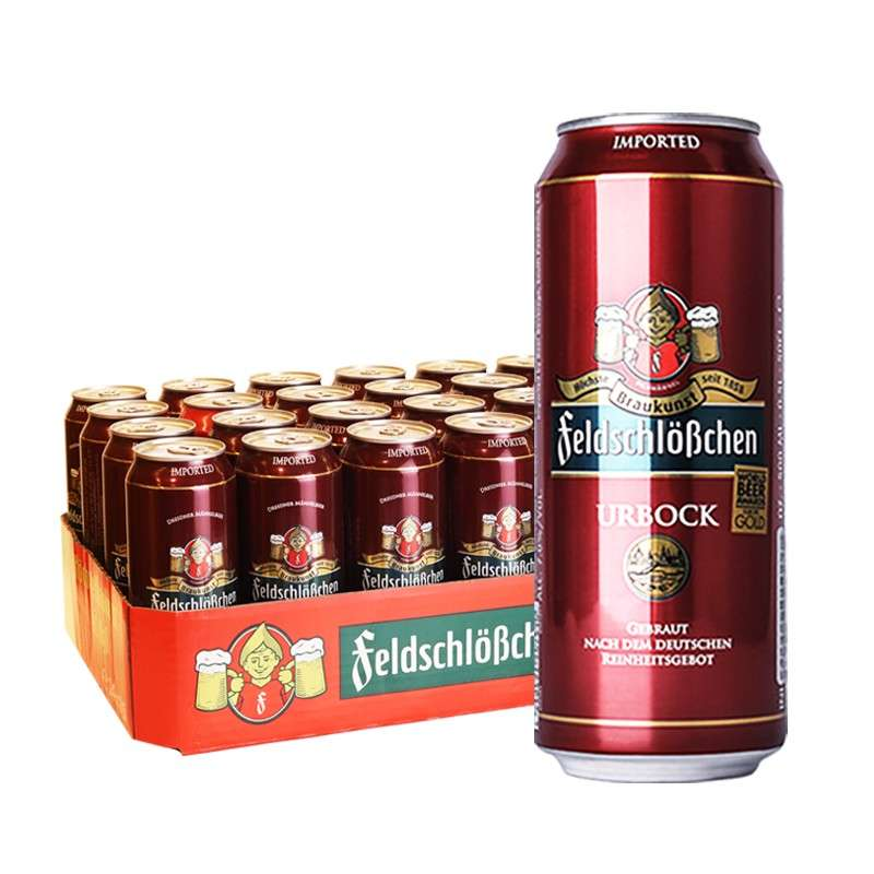 费尔德博克浓色烈性黑啤酒 500ml*24听