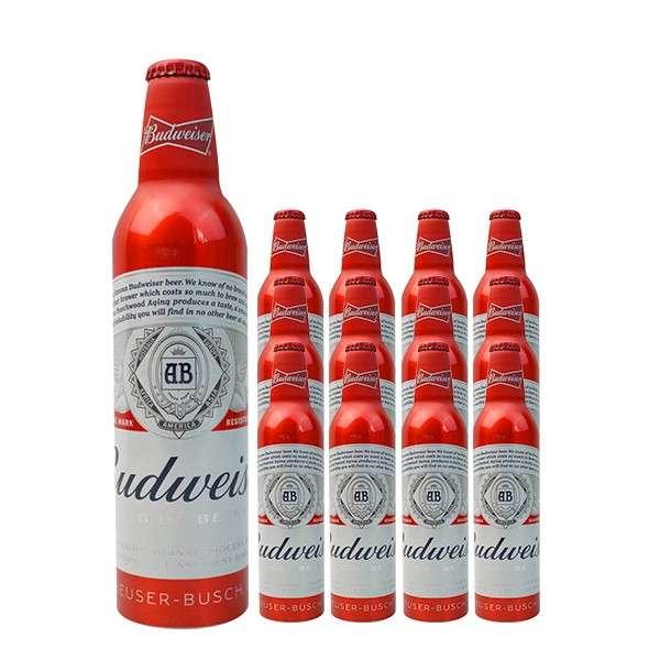 比德威瑟/百威红铝瓶啤酒 473ml*24瓶
