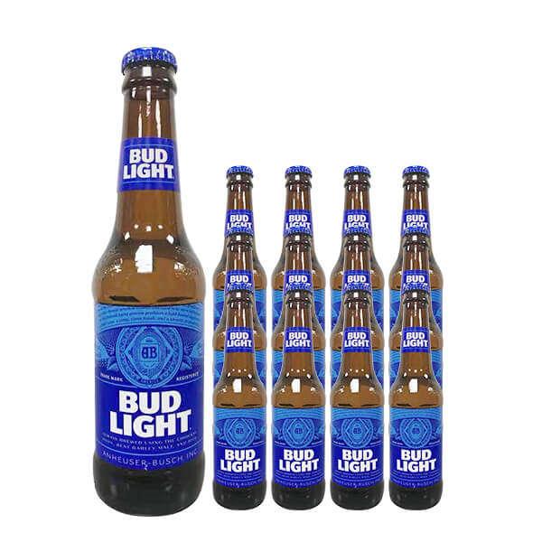 比德威瑟/百威旋盖蓝轻啤酒 300ml*24瓶