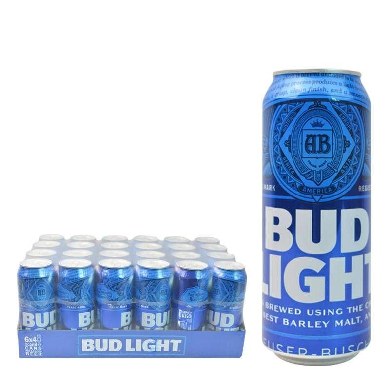 比德威瑟/百威蓝色轻啤酒 500ml*24听