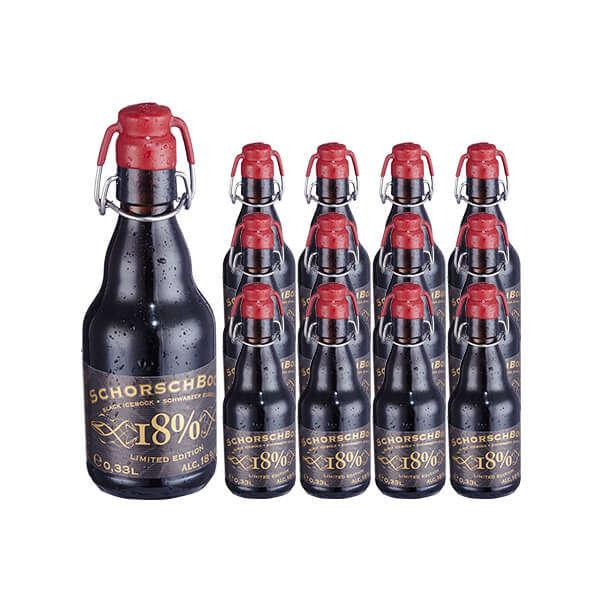 少士博18度烈性黑啤酒 330ml*12瓶