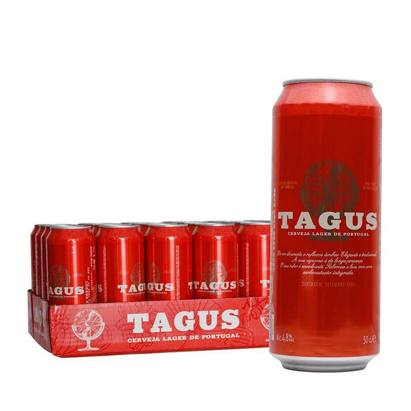 泰谷(TAGUS)红罐啤酒 500ml*24听