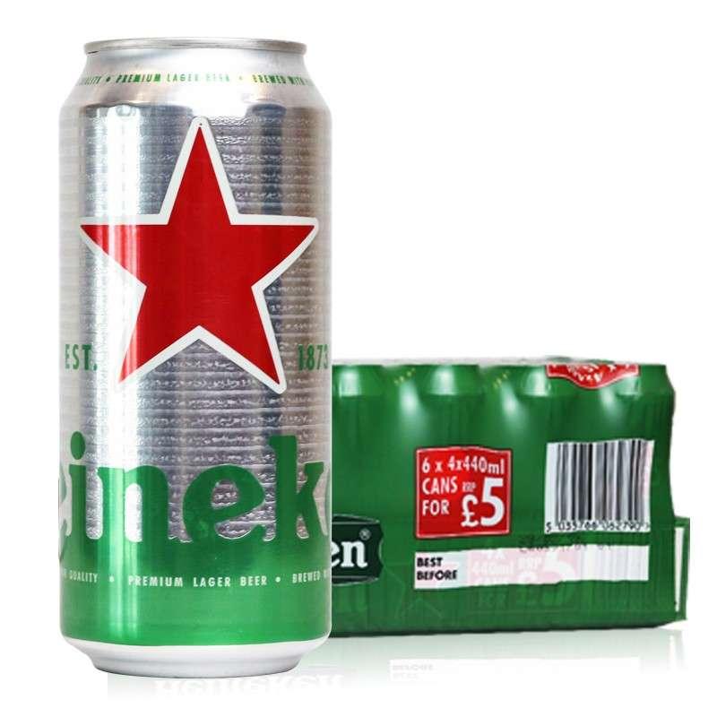 喜力Heineken海尼根啤酒440ml*24听
