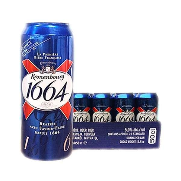 克伦堡1664黄啤酒500ml*24听