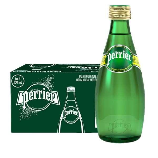 巴黎水原味天然矿泉水330ml*24瓶