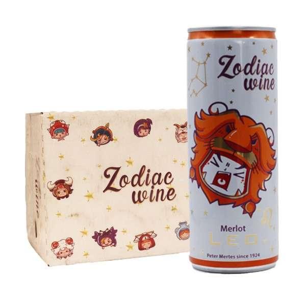 酌雅(狮子座)干红葡萄酒250ml*12听