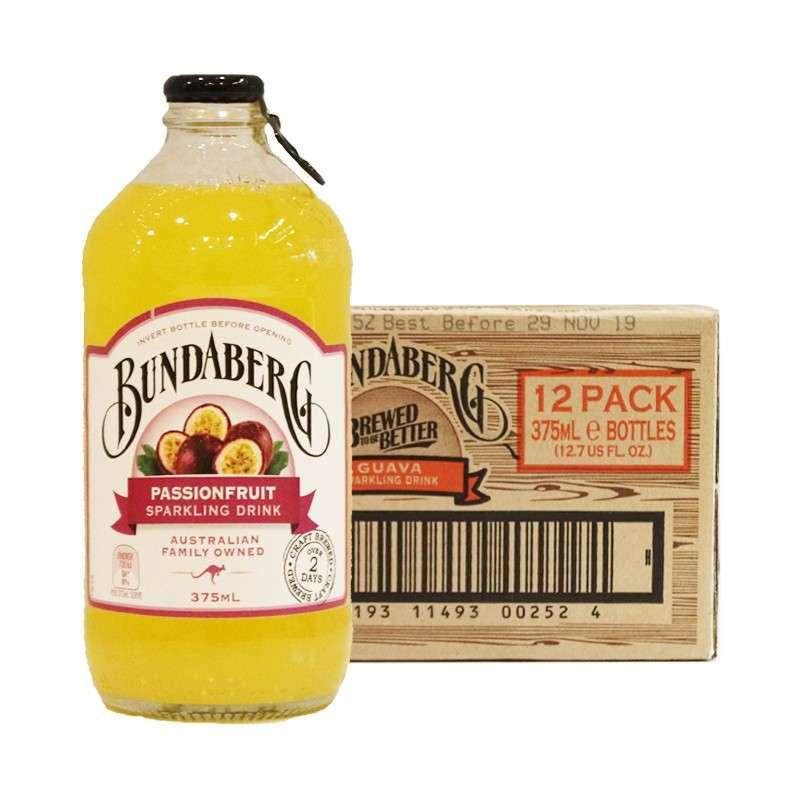 宾得宝含气百香果汁饮料375ml*12瓶